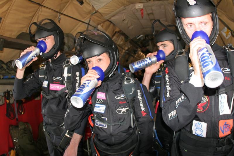 gox canette oxygene dans l'avion militaire