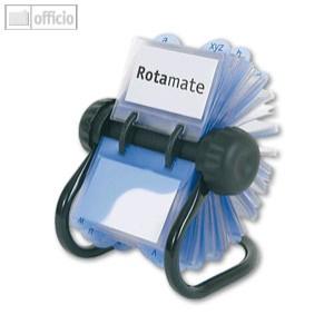 Chrome ROTADEX Fichier Rotatif Bureau Classique 200 Pochettes Base Tubulaire Noire Ou 175x205x22c