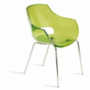 Bar a oxygene silla de policarbonato transparente u opaco opal verde transparente - Sillas en policarbonato ...