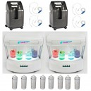 Package Bar to full oxygen VIP2 with 2 oxygen generators, 2 stations oxygen white color, 4 inhalers helmets