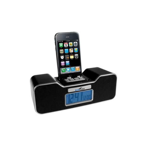 bluestork bikini black snooze alarm clock radio ipod dock speaker system radio alarm clock. Black Bedroom Furniture Sets. Home Design Ideas