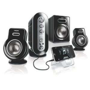 Philips - SPA9350/10 - Multimedia Speaker 2.1 Speaker System for PC - Bass Reflex - Charging iPod /